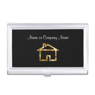 Caja Para Tarjetas De Visita Símbolo con clase de la casa