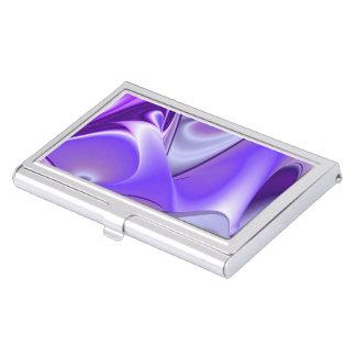 Caja Para Tarjetas De Visita Sueños púrpuras del arco iris de la flor de la