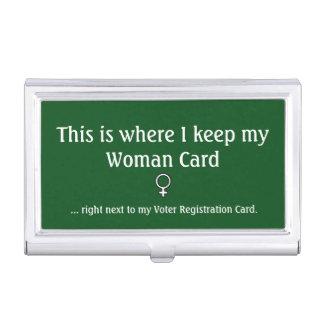 Caja Para Tarjetas De Visita Tarjeta de la mujer, tenedor de la tarjeta de
