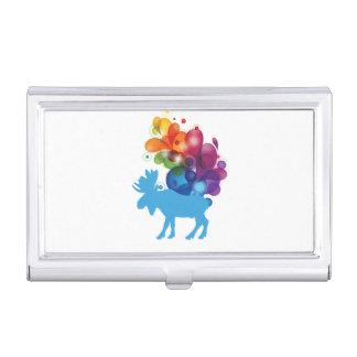 Caja Para Tarjetas De Visita Tenedor abstracto de la tarjeta de visita de los