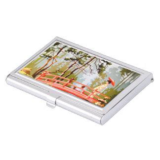 Caja Para Tarjetas De Visita Tenedor asiático de la tarjeta de visita del