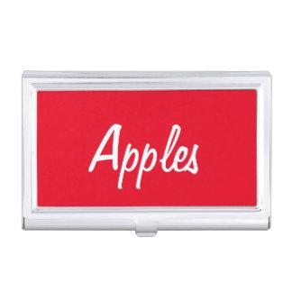 Caja Para Tarjetas De Visita Tenedor de la tarjeta de visita de las manzanas