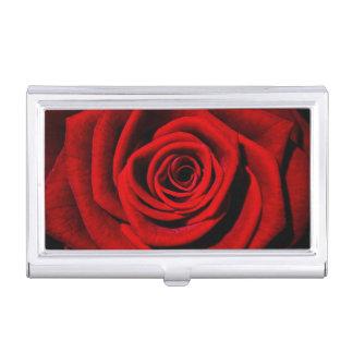Caja Para Tarjetas De Visita Tenedor de la tarjeta de visita de los rosas