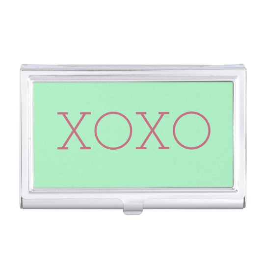 Caja Para Tarjetas De Visita Tenedor de la tarjeta de visita de XOXO
