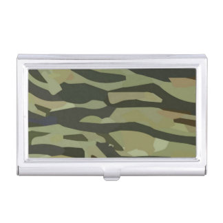 Caja Para Tarjetas De Visita Tenedor de la tarjeta de visita del camuflaje