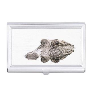 Caja Para Tarjetas De Visita Tenedor de la tarjeta de visita del cocodrilo