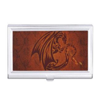 Caja Para Tarjetas De Visita Tenedor de la tarjeta de visita del dragón