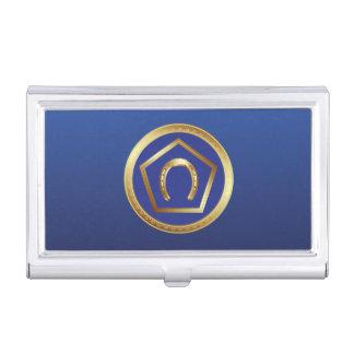 Caja Para Tarjetas De Visita Tenedor de la tarjeta de visita: Logotipo de la