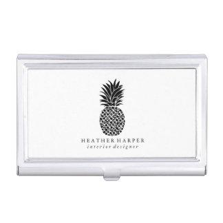 Caja Para Tarjetas De Visita Tenedor de la tarjeta de visita - piña