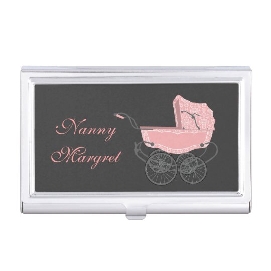 Caja Para Tarjetas De Visita Tenedor rosado de la tarjeta de visita del