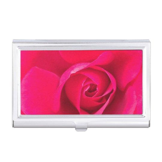 Caja Para Tarjetas De Visita V2 color de rosa rosado rojo romántico
