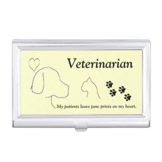 Caja Para Tarjetas De Visita Veterinario - impresiones de la pata en mi corazón