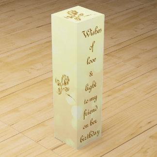 Caja Para Vino Amigo del cumpleaños del amor y de la luz