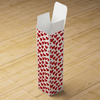 Caja Para Vino Amor rojo pintado modelo del corazón del ejemplo