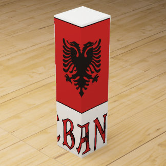 Caja Para Vino andWord de la bandera de Albania