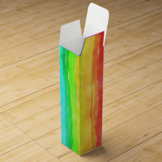 Caja Para Vino Bandera del símbolo del orgullo que da una