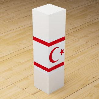 Caja Para Vino Bandera septentrional de Chipre