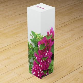 Caja Para Vino Bougainvillea de las rosas fuertes