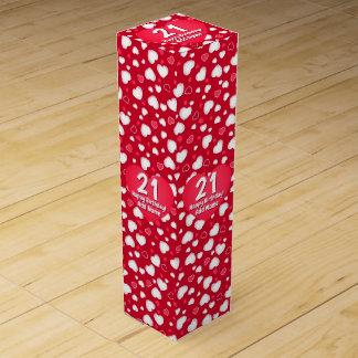 Caja Para Vino Corazones rojos lindos