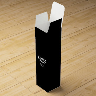 Caja Para Vino Escritura estupenda del rock-and-roll del rayo de