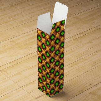 Caja Para Vino Modelo amarillo de la gema