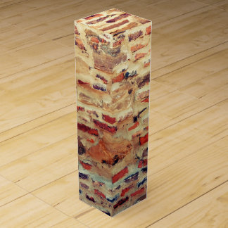Caja Para Vino Modelo de la pared de ladrillo