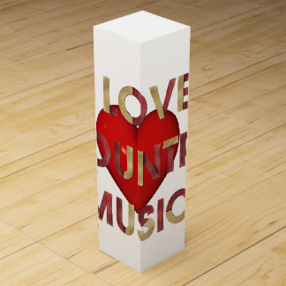 Caja Para Vino Música country del amor de la CAMISETA I