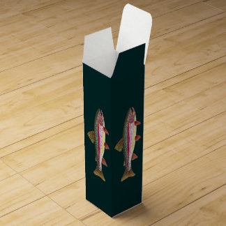 Caja Para Vino Pesca de la trucha arco iris
