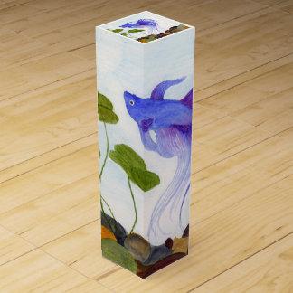 Caja Para Vino Pescados azules de Betta