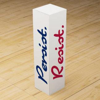 Caja Para Vino Resista persisten blanco de la resistencia y azul