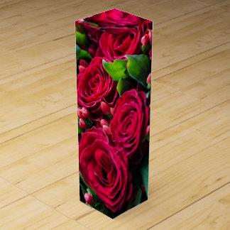 Caja Para Vino Rosas rojos