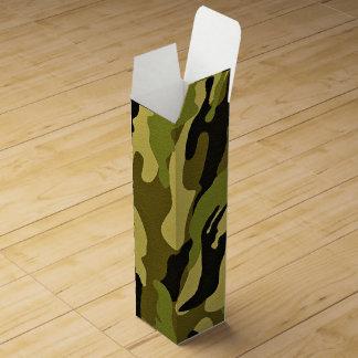 Caja Para Vino Textura verde del ejército del camuflaje