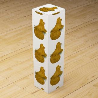 Caja Para Vino Uno mismo del amarillo de la paloma del