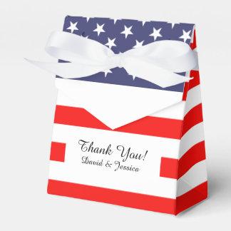 Caja patriótica del favor de banquete de boda de