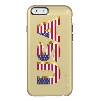 Caja patriótica del oro del brillo del iPhone 6/6s Funda Para iPhone 6 Plus Incipio Feather Shine