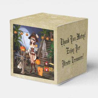 Caja personalizada chica del favor del pirata de