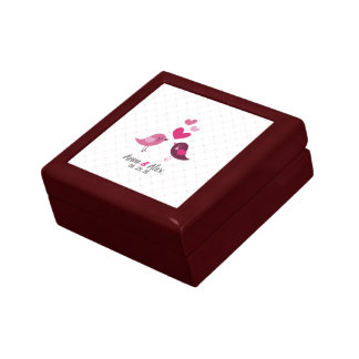 Caja personalizada del aniversario de boda de la