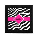 Caja personalizada estampado de zebra del recuerdo cajas de regalo