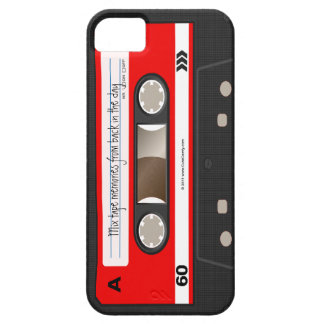 Caja personalizada retra roja de la cinta de iPhone 5 Case-Mate protectores
