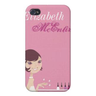 Caja personalizada salón femenino del iPhone 4 del iPhone 4 Carcasa