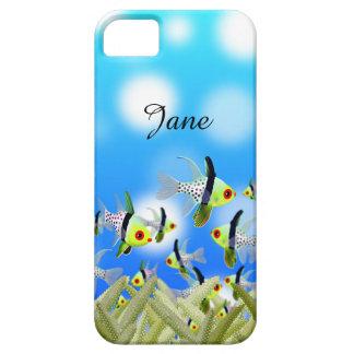 Caja, pescados y mar del teléfono móvil del funda para iPhone SE/5/5s