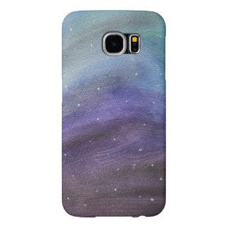 caja pintada del teléfono de la galaxia funda samsung galaxy s6