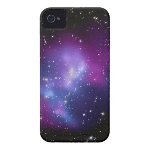 Caja púrpura de la casamata del racimo de la galax iPhone 4 Case-Mate carcasas