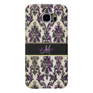 Caja púrpura de la galaxia S6 del damasco del Funda Samsung Galaxy S6
