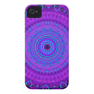 Caja púrpura del iPhone 4 del caleidoscopio de la Funda Para iPhone 4 De Case-Mate