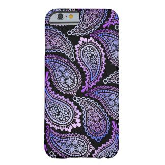 Caja púrpura del iPhone 6 de Paisley Funda Para iPhone 6 Barely There