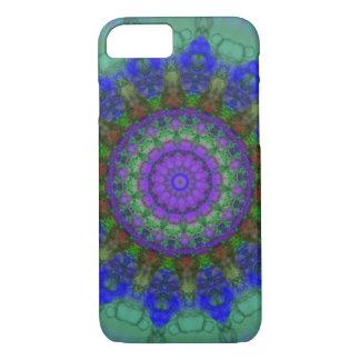 Caja púrpura del iPhone 7 de la mandala de la Funda iPhone 7