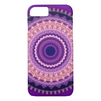 Caja púrpura del iPhone 7 de la mandala del Funda iPhone 7
