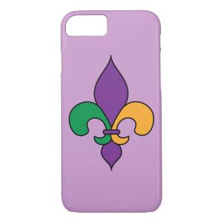 Caja púrpura del iPhone 7 del carnaval de la flor Funda iPhone 7