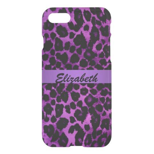 Caja púrpura del iPhone 7 del estampado de Funda Para iPhone 7
